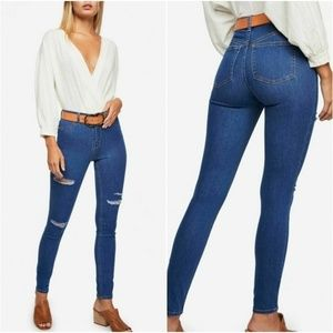 Free People Destroyed Long Lean Jegging Jeans